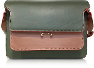 Marni Color Block Leather Mini Trunk Bag
