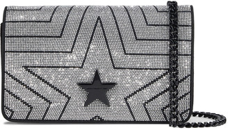 Stella McCartney Stella Star Crystal-embellished Velvet Shoulder Bag