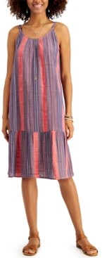 Style&Co. Style & Co Petite Striped Tiered Midi Dress, Created for Macy's
