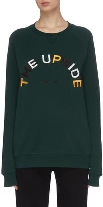 The Upside 'Horseshoe Sid' colourblock logo raglan sleeve sweatshirt