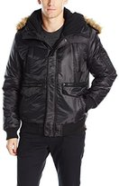 Southpole Men's Bomber Jacket with Utility Pocket on Arms
