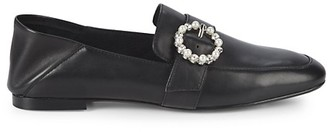 Ava & Aiden Aspen Embellished-Buckle Leather Loafers