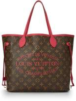 Louis Vuitton Raspberry Monogram Canvas Ikat Flower Neverfull MM