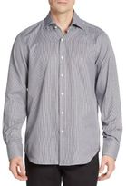 Saks Fifth Avenue Regular-Fit Mini Gingham Cotton Sportshirt