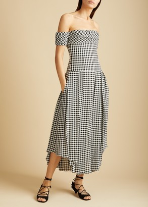 KHAITE The Amanda Dress in Gingham