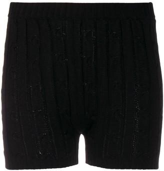 Giuseppe di Morabito Cable Knit Ribbed Detail Shorts