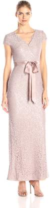 Adrianna Papell Women's Lace and Sequin Long Dress