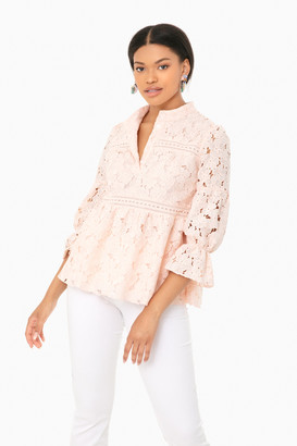Orchid Pink Lace Helena Top