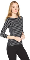 White House Black Market Fitted Stripe Top