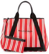 Balenciaga Cabas Medium Striped Tote Bag