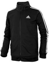 adidas Boys' Non-Denim Casual Jackets BLACK - Black Iconic Logo Track Jacket - Toddler