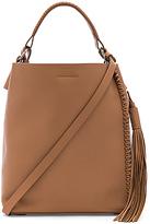 AllSaints Pearl Mini Hobo Bag in Tan.