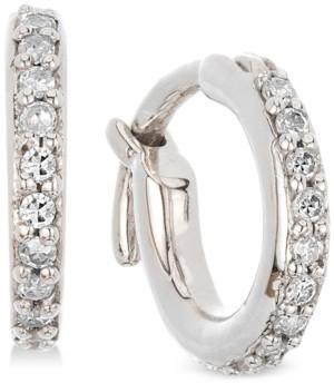 Elsie May Diamond Hoop Earrings (1/6 ct. t.w.) in Sterling Silver, Created for Macy's
