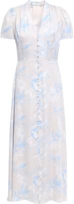 Equipment Gaetan Floral-print Washed Silk-blend Midi Dress