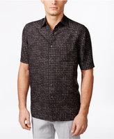 Tasso Elba Men's Big & Tall Naples Printed Short-Sleeve Shirt, Only at Macy's