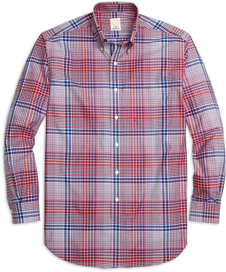 Brooks Brothers Golden Fleece Regent Fit Bold Plaid Sport Shirt