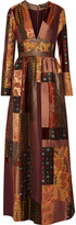 Etro Patchwork silk-crepe, jacquard and velvet maxi dress