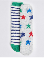 Marks and Spencer 2 Pairs of Cosy Socks (1-14 Years)