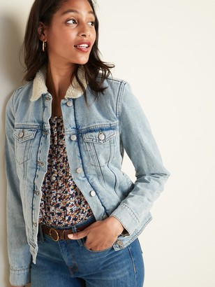 Old Navy Sherpa-Lined Jean Jacket For Women