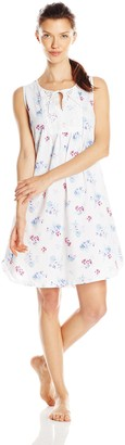 Carole Hochman Women's Tunic Style Chemise with Embroidery