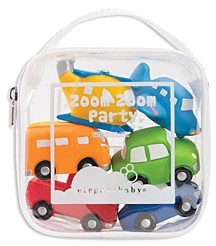 Elegant Baby Zoom Zoom Party Bath Toys, Set of 6 - Ages 6 Months+