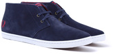 Fred Perry Byron Carbon Blue Suede Desert Boots