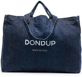 Dondup Logo-Print Denim Tote Bag