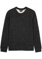 A.p.c. Charcoal Flecked Jersey Sweatshirt