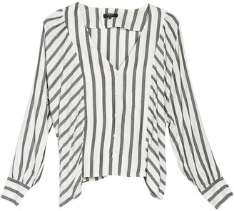 Frnch Stripe Long Sleeve Blouse
