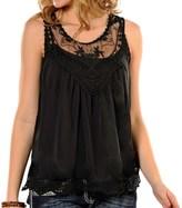 Panhandle Lace Chiffon Tank Top (For Women)