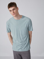 Frank + Oak Slub Cotton Pocket T-Shirt in Salisbury Green