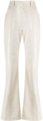 Philosophy di Lorenzo Serafini Faux-Leather High Waisted Trousers