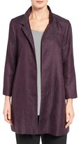 Eileen Fisher Women's Gypsum Jacquard Stand Collar Coat