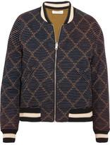 Etoile Isabel Marant Dabney Reversible Printed Cotton Bomber Jacket - Black