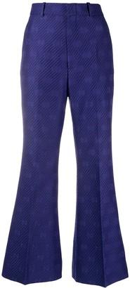 Gucci GG jacquard kickflare trousers