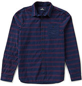 Buffalo David Bitton Textured Horizontal Stripe Jacquard Shirt