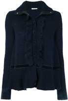Moncler frill front cardigan