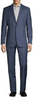 Saks Fifth Avenue Slim-Fit Micro Check Wool Suit