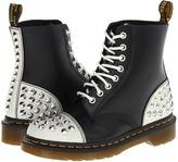 Dr. Martens Dia Studded Toecap (White Cristal Suede/Black+Black Smooth) - Footwear