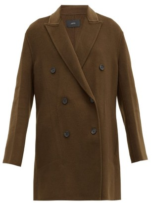 Joseph Clavel Felted Wool-blend Double-breasted Coat - Khaki
