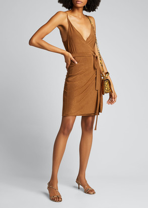 L'Agence Tate Sleeveless Wrap Dress