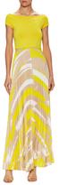 Max Mara Estri Printed Pleat Maxi Dress