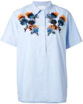 Koche - embellished short-sleeve shirt - women - Silk/Cotton/glass - 36