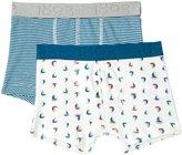 Petit Bateau 2 Pack Boxers (Toddler/Kid) - Blue White Multi - 6 Years