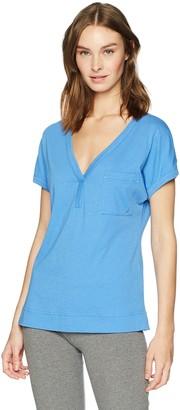 Nautica Women's Short Sleeve V-Neck Sleep Top