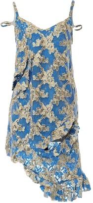 Marques Almeida Blue Lace Dresses