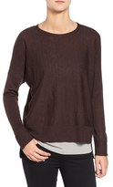 Eileen Fisher Women's Ballet Neck Boxy High/low Pullover