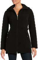 Gallery Petite Quilted Zip-Front Coat