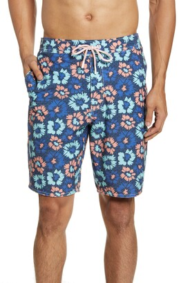 johnnie-O Vessup Floral Swim Trunks