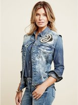 GUESS Embellished Denim Vest
